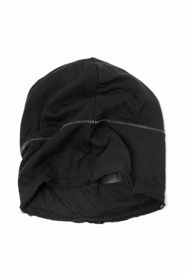 thomkrom BEANY CAP /  OVERLOCK STITCHED JERSEY (BLACK)