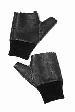 thomkrom FINGER OUT GLOVES / OVERLOCK & RIB (BLACK)