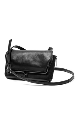discord Yohji Yamamoto CLASP ZIP WALLET with SHOULDER STRAP (BLACK)