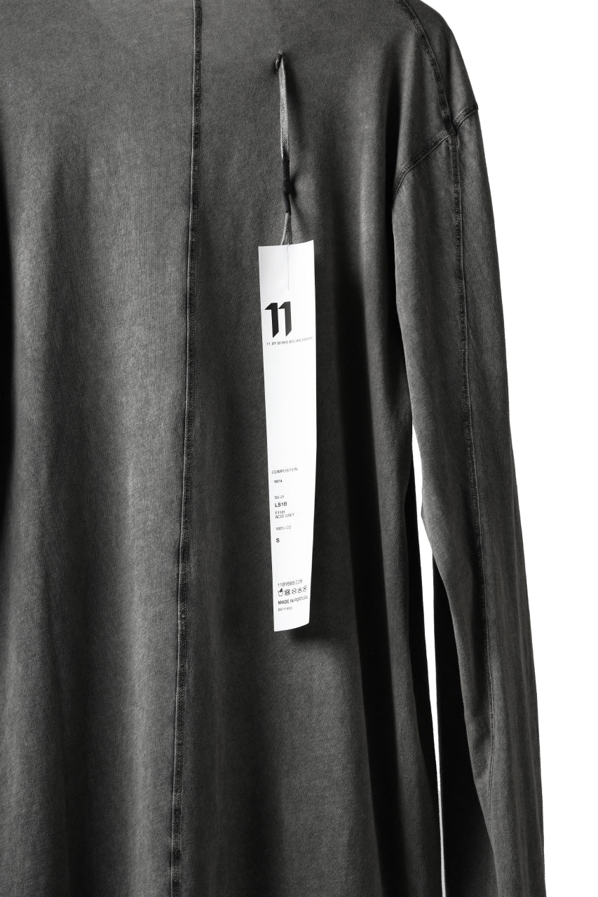 "画像をギャラリービューアに読み込む, 11 BY BORIS BIDJAN SABERI LONG SLEEVE TEE ""L-S1B-F-1101"" (ACID GREY)"