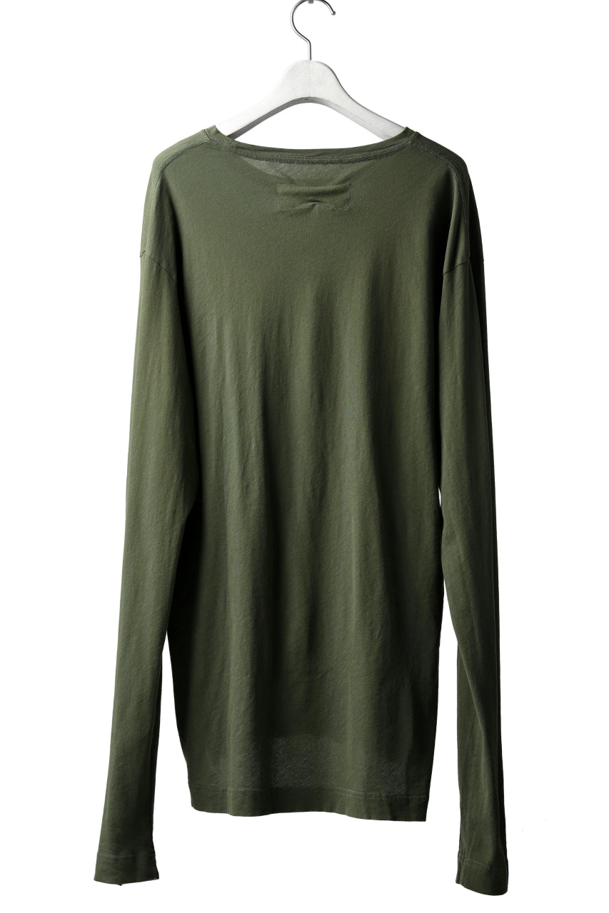 RUNDHOLZ DIP LONG SLEEVE CUT SEWN (MOSS*KHAKI GREEN)