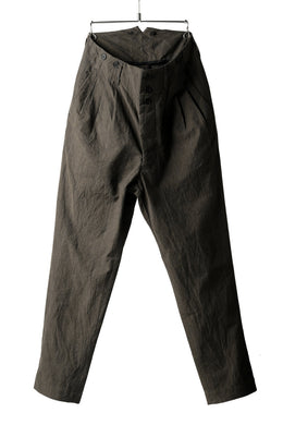 KLASICA MORROW-OCN TAPERED TROUSERS / IKAT DYED STRIPE COTTON  (CINNAMON)