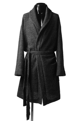 A.F ARTEFACT WARM KNIT GOWN COAT (GREY)