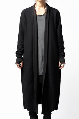 thomkrom LONG CARDIGAN JACKET / OVERLOCK STITCHED (BLACK)