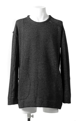 KLASICA SAB CREW PULL OVER / WOOL&COTTON JERSEY (HEATHER)