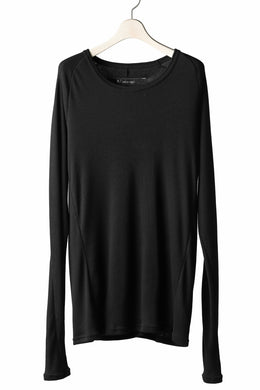 A.F ARTEFACT exclusive RAGLAN PULL OVER TOPS / COTTON MODAL RIB (BLACK)