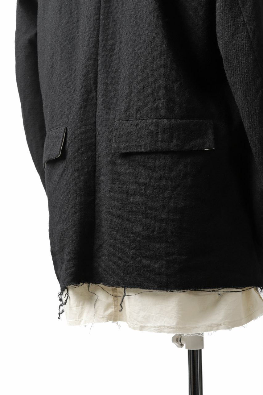 KLASICA BASTILLE PILGRIM BLAZER / OFF TWEED WOOL (BLACK)