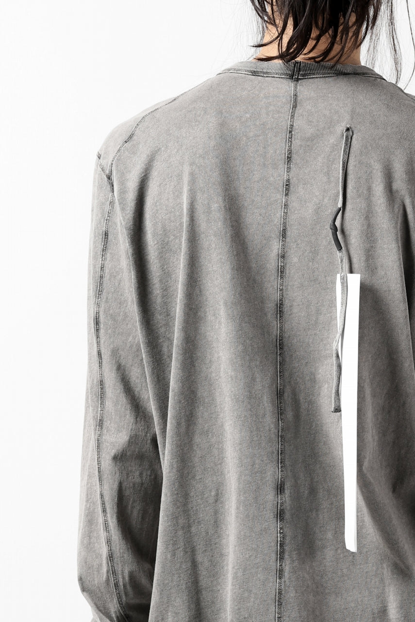 "11 BY BORIS BIDJAN SABERI LONG SLEEVE TEE ""L-S1B-F-1101"" (ACID GREY)"