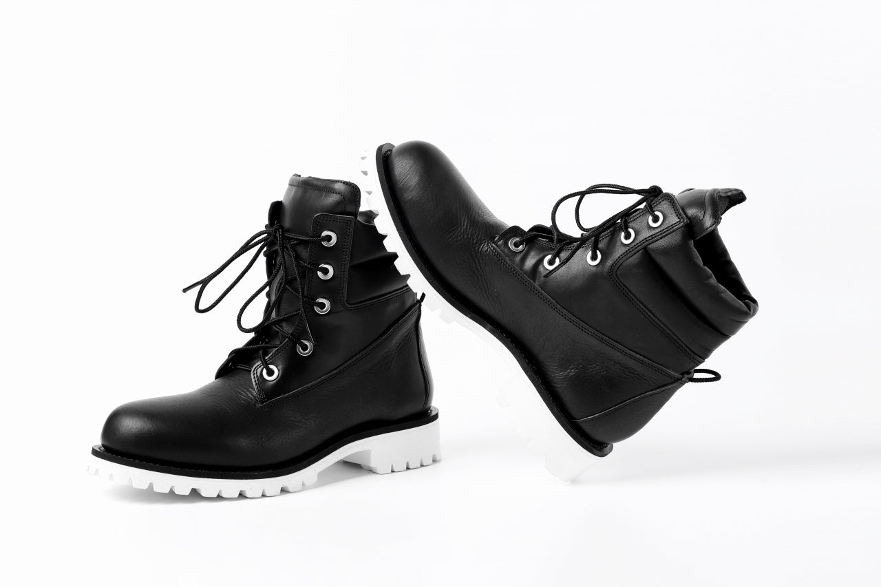 Portaille exclusive LEX-W20 TREK Laced Boots / VACCHETTA VB WHITE EDITION.