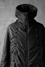 画像をギャラリービューアに読み込む, masnada REVERSIBLE PUFFER PADDED MODS COAT / WATER RESISTENT (BLACK)