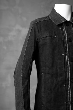 画像をギャラリービューアに読み込む, masnada SCAR STITCHED JEAN JACKET / CONTRAST DENIM (BLACK)