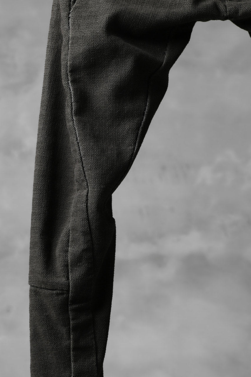 画像をギャラリービューアに読み込む, masnada SCAR STITCHED RAW EDGE SKINNY PANT / OBJECT DYED (LEGION)
