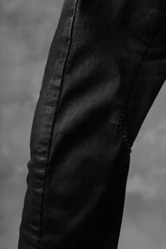 画像をギャラリービューアに読み込む, masnada EMBEDDED SLIM PANTS / DENIM ELASTICZZATO (BLACK)