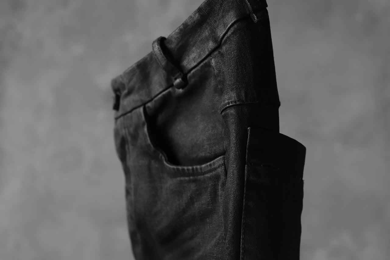 masnada EMBEDDED SLIM PANTS / DENIM ELASTICZZATO (BLACK)