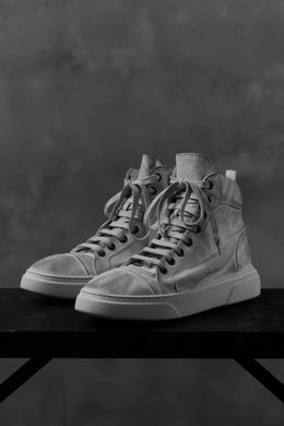 masnada SNEAKERS ALTA HIGH TOP / PELLE BUFALO (DIRTY WHITE)