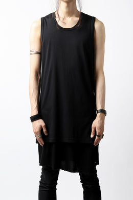 N/07 SLEEVELESS TOPS / DERABE CLAIR FINE (BLACK)
