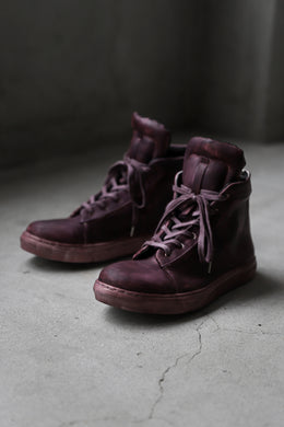 【Reserved items】Portaille exclusive LEX-DIVO HAND-DYEING HIGHTOP SNEAKERS (BURGUNDY)