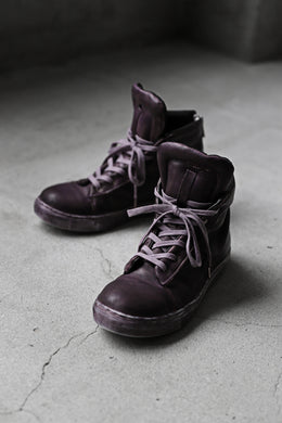 【Reserved items】Portaille exclusive LEX-DIVO HAND-DYEING HIGHTOP SNEAKERS (PURPLE)