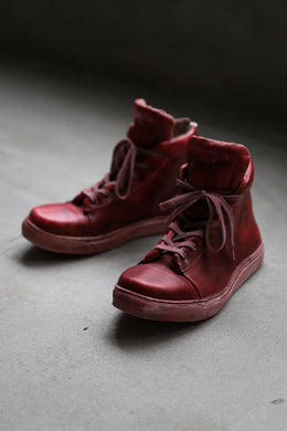 【Reserved items】Portaille exclusive LEX-DIVO HAND-DYEING HIGHTOP SNEAKERS (RED)