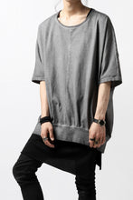 Load image into Gallery viewer, N/07 OVERFIT DOLMAN T-SHIRT / DYED JERSEY (INK BLACK)