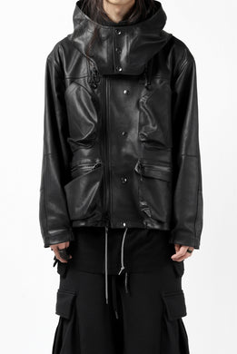 BACKLASH × SEVESKIG MULTIFUNCTION JACKET / GOAT DOUBLEFACE (BLACK)
