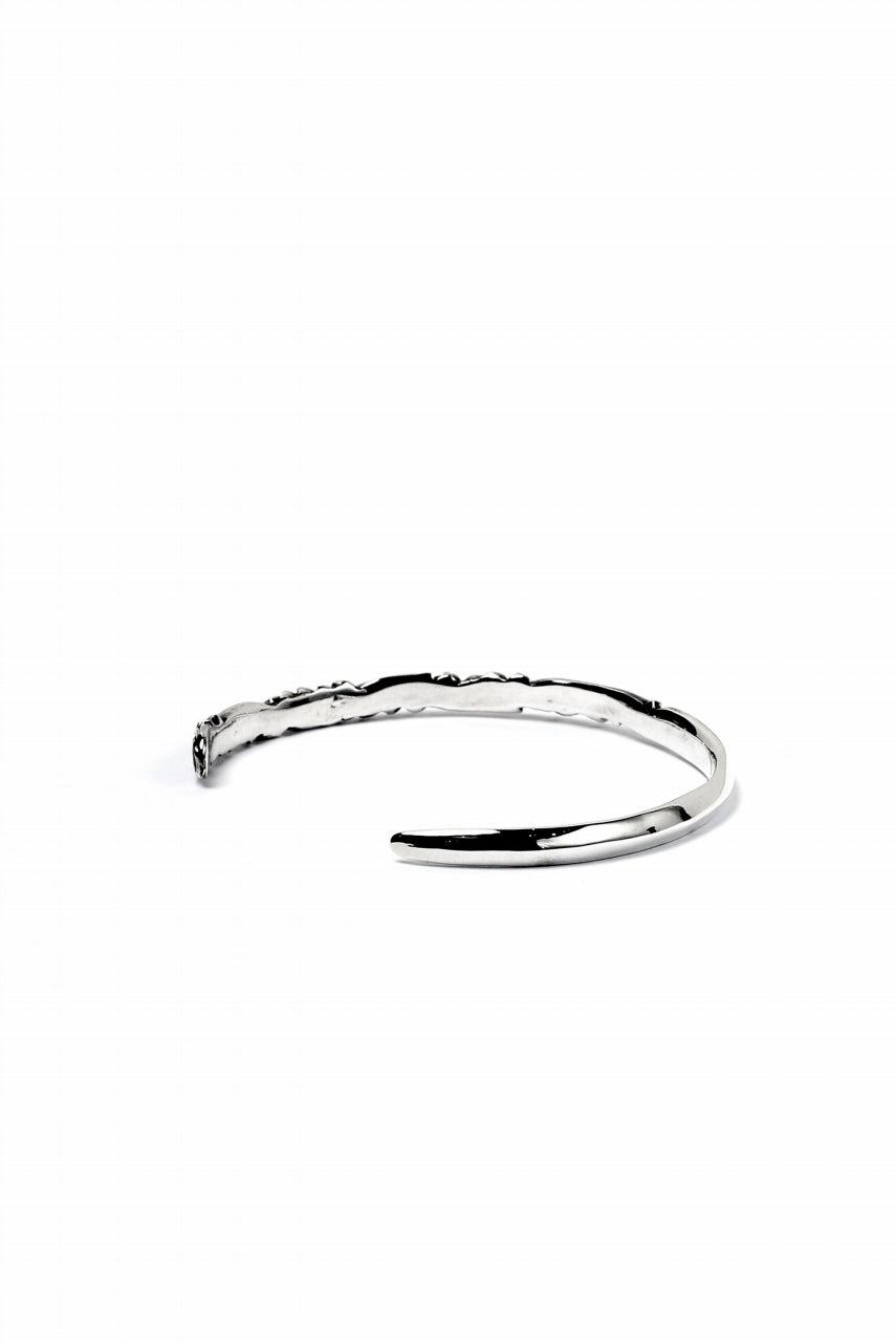"画像をギャラリービューアに読み込む, Loud Style Design - GET IN THE RING ""ARABESQUE-THIN"" SILVER BANGLE"