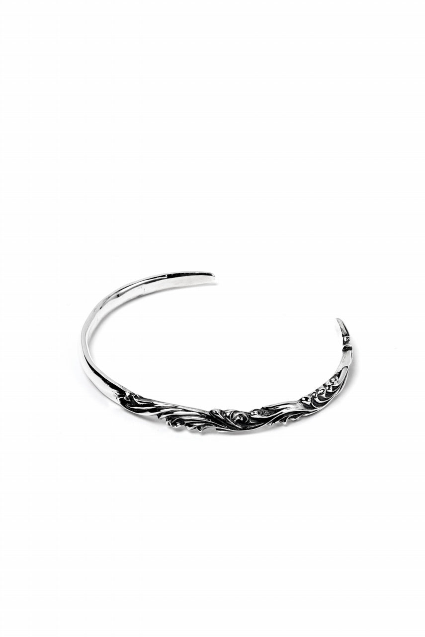 "Loud Style Design - GET IN THE RING ""ARABESQUE-THIN"" SILVER BANGLE"