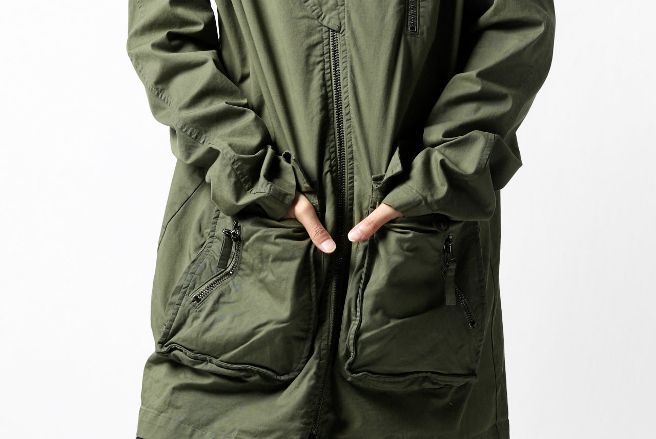 RUNDHOLZ DIP MILITARY COVER-ALL JACKET (MOSS)