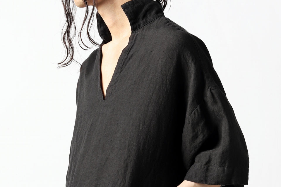 Load image into Gallery viewer, vital half collar tunica tops (organic linen)