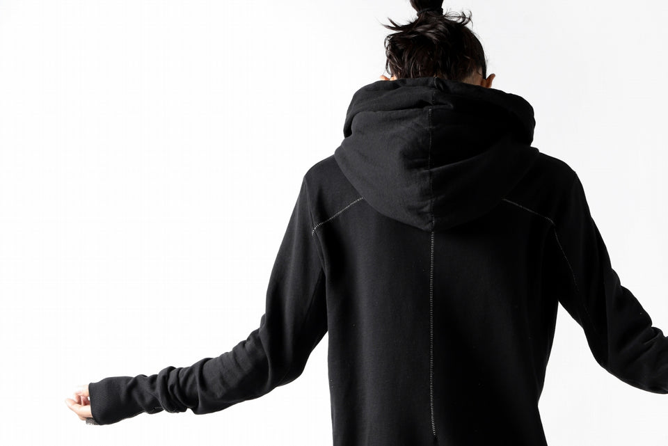画像をギャラリービューアに読み込む, thomkrom DOUBLE HOODIE PULL OVER PARKA / OVER LOCKED (BLACK)