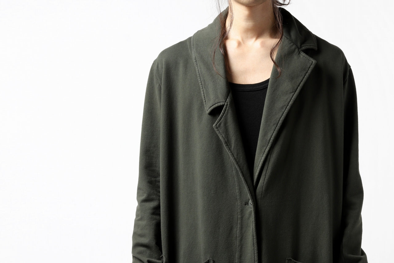 Pxxx OFF by PAL OFFNER LEGER COAT / STRETCH COTTON SWEAT (MOSS*KHAKI)