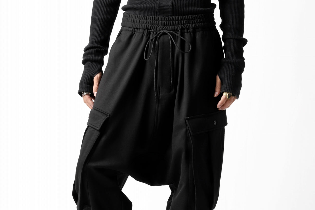 JOE CHIA CARGO POCKETED SWEAT PANTS (BLACK)
