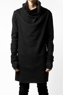 A.F ARTEFACT DRAPE HIGH NECK TOPS / THERMOLITE® CORE (BLACK)