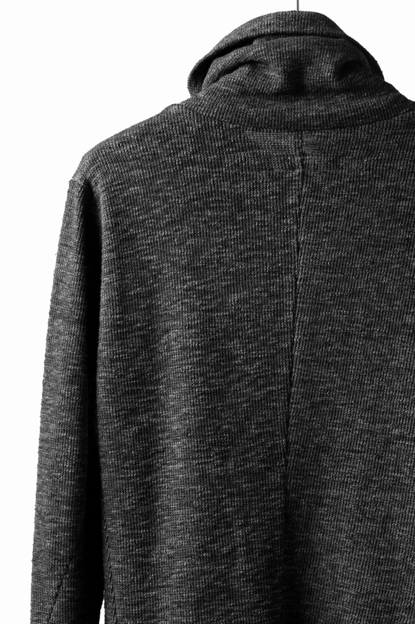 画像をギャラリービューアに読み込む, A.F ARTEFACT HIGH NECK WRAP TOPS / COLD DYED SLAB KNIT JERSEY (GREY)