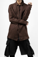 画像をギャラリービューアに読み込む, A.F ARTEFACT CLASSIC LONG SLEEVE SHIRT / HERRINGBONE LINEN (BROWN)