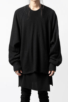 A.F ARTEFACT BOMBER PULLOVER TOPS #2 / SLAB KNIT JERSEY (BLACK)