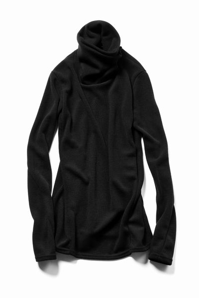 A.F ARTEFACT exclusive HIGH NECK WRAP TOPS / EXLANWOOL® (BLACK)