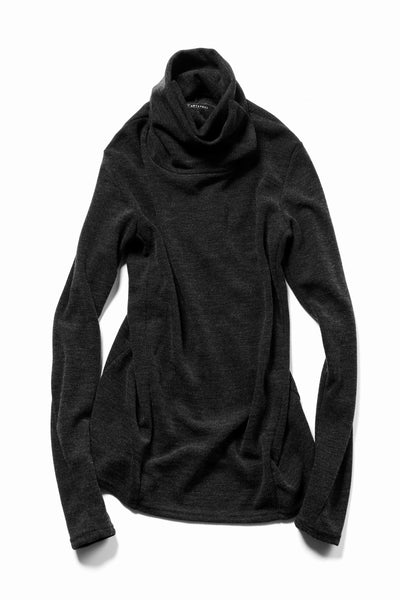 A.F ARTEFACT exclusive HIGH NECK WRAP TOPS / EXLANWOOL® (GREY)