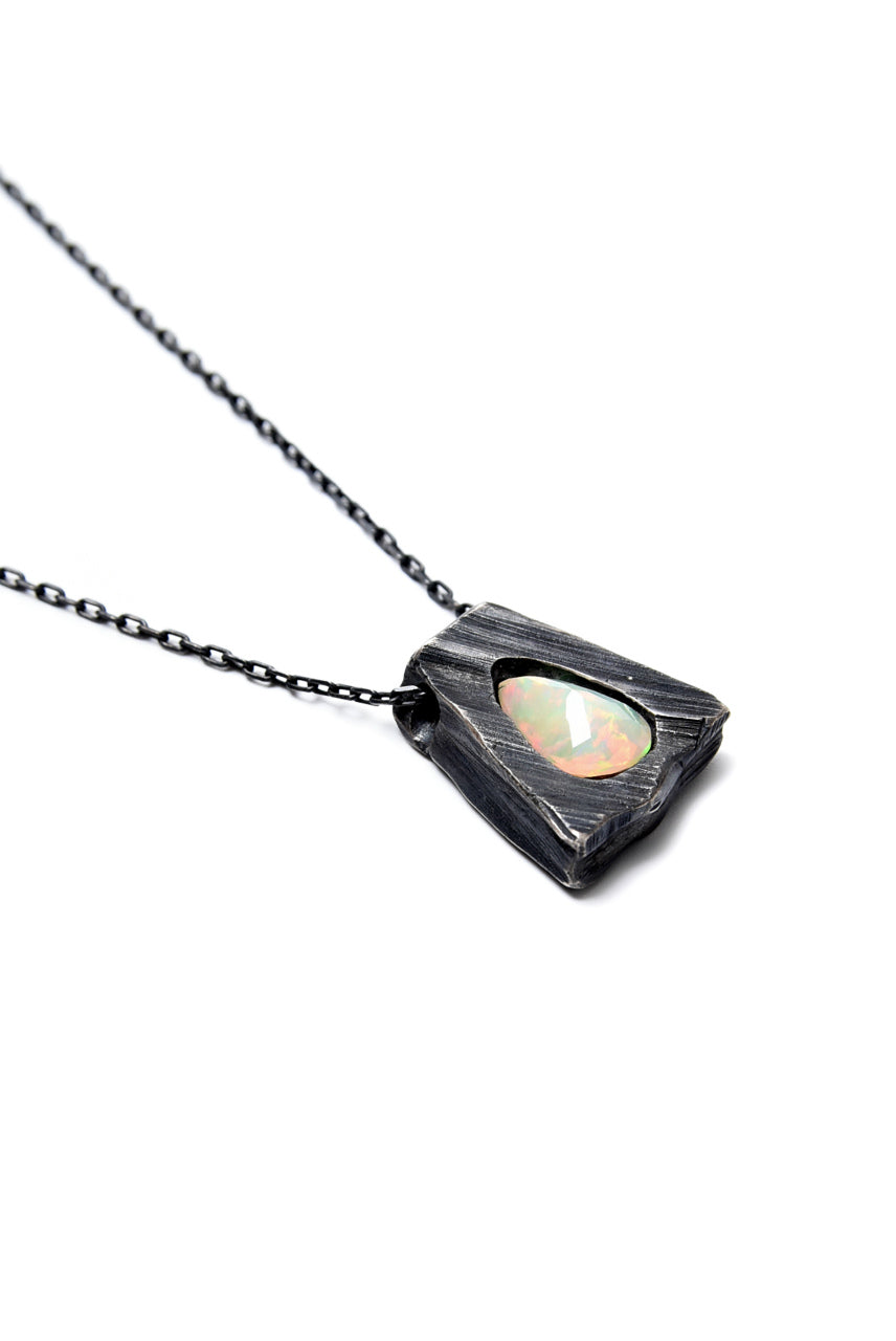 GASPARD HEX Faceted Opal Pendant Drop Shape