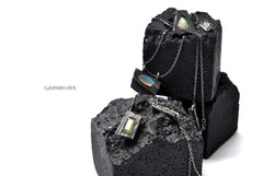 Load image into Gallery viewer, GASPARD HEX Faceted Opal Pendant Rectangle Shape
