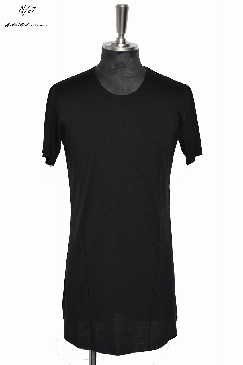 "N/07 curved seam Tee ""SMOOTH TECH"" (BLACK)"