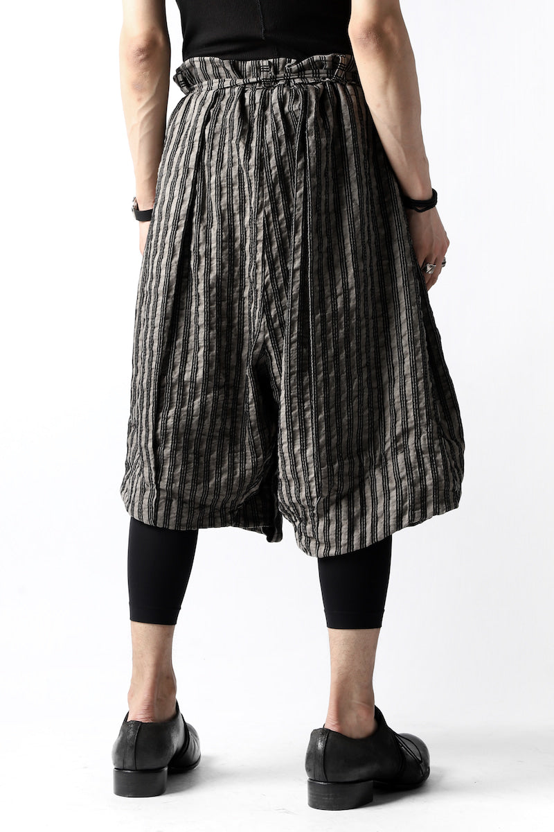 un-namable exclusive Tulip Wide Short Pants (Sarti Stripe)