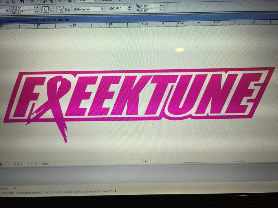 Freektune decal- breast cancer awareness