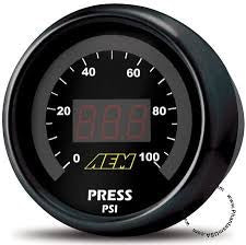Aem 0-100 psi fuel/oil pressure gauge