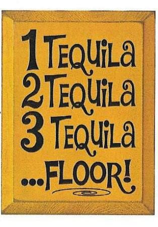 1 Tequila 2 Tequila 3 Tequila... Floor! - Wood Sign