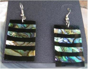 Abalone Shell Earring Stripe - Jewelry