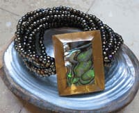 Abalone Stretch Square Bracelet - Jewelry