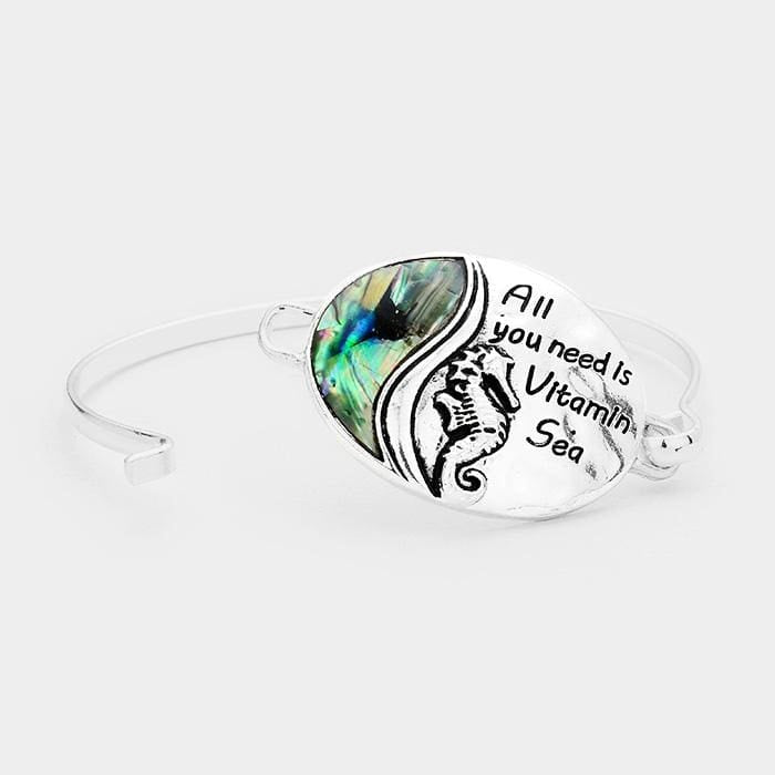 All You Need Is Vitamin Sea Abalone Seahorse Oval Hook Bracelet - Jewelry