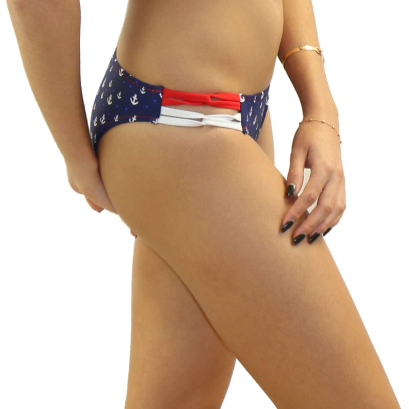 Anchor It Criss-Cross Side Bottom - Swimwear