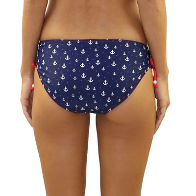 Anchor It Criss-Cross Tie Side Bottom - M / Anchor It - Swimwear
